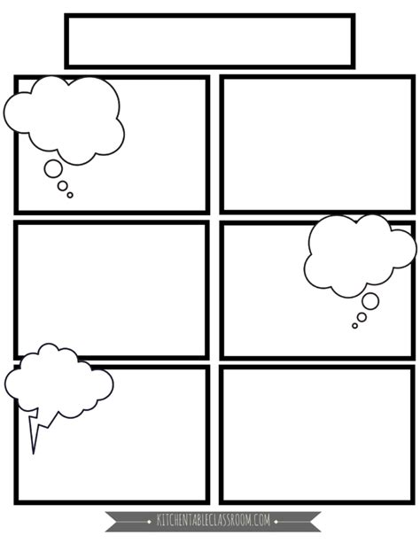 free comic templates comic book templates in homeschool writing the kitchen