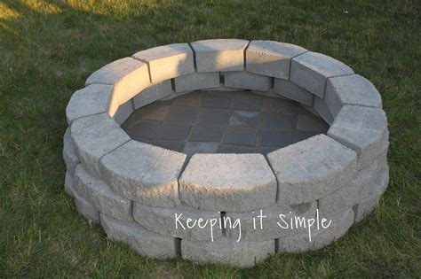 how to make a simple fire pit in your backyard keeping it simple how to build a diy fire pit for only 60