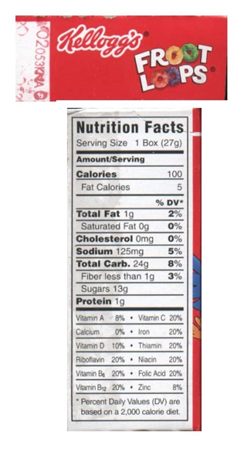 fruit loops nutrition facts it s sugar time