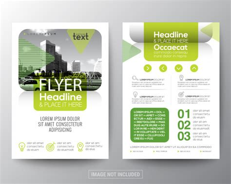Poster Design Layout Download | green brochure cover flyer poster design layout template