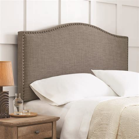 wood and upholstered headboard full image for gray