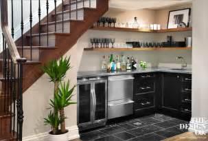 under stair bar under the stairs bar cottage basement ken gemes
