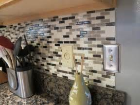 Stick On Kitchen Backsplash by Peel Stick Backsplash Idea Decozilla
