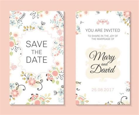 free vector invitation card template floral invitation free template orderecigsjuice info