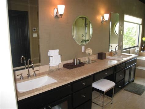 sink vanity with makeup area bathrooms