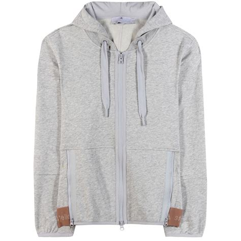 Cotton Blend Knit Shorts From Adidas By Stella Mccartney lyst adidas by stella mccartney ess cotton blend hoodie in white
