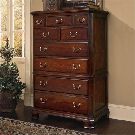 American Drew Dresser by American Drew Bob Cherry Grove Landscape Mirror And