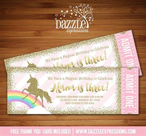 printable liverpool birthday invitations printable pink and gold glitter unicorn ticket birthday