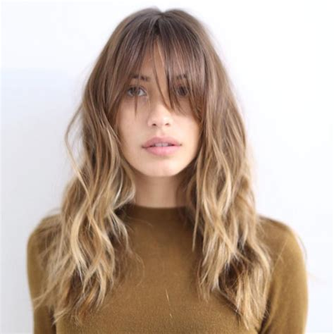 half whispy bangs cut on a slant for oval shaped faces 59 best half moon bangs images on pinterest fringes