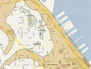 san francisco earthquake map bedrock san francisco neighborhoods prone to liquefaction and