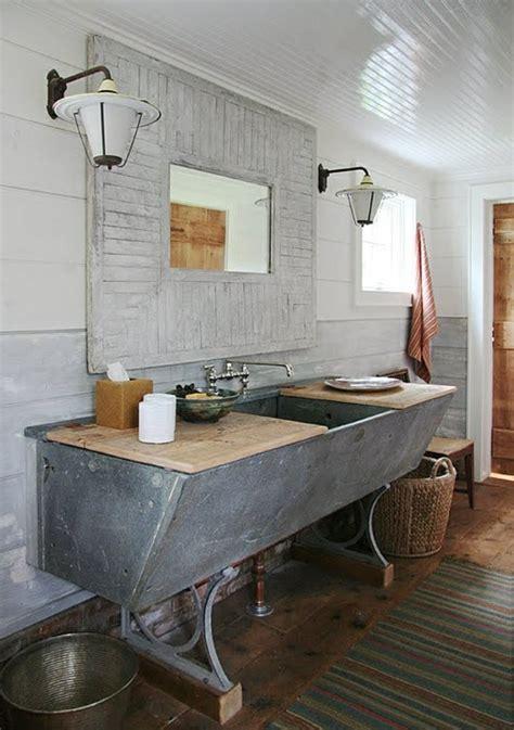 badezimmer vanity rustikal 23 fantastische rustikale badezimmer design ideen