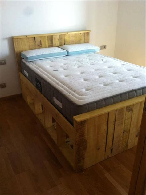 bed frame from pallets pallets wood bed frame 101 pallets