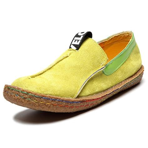 soft shoes for sale suede color slip on stitching flat soft