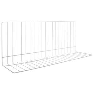 these white wire shelf dividers reduces roll offs and messes