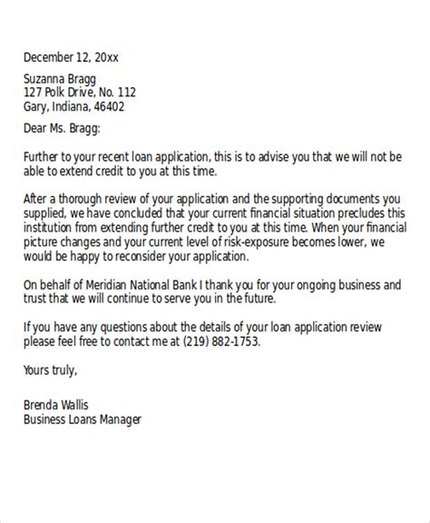 Mortgage Rejection Letter Sle rejection letter template tire driveeasy co