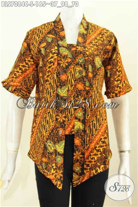 Blus Batik Elegan 263 Cap batik blus kartini motif bagus proses cap baju batik wanita sederhanan nan elegan bikin