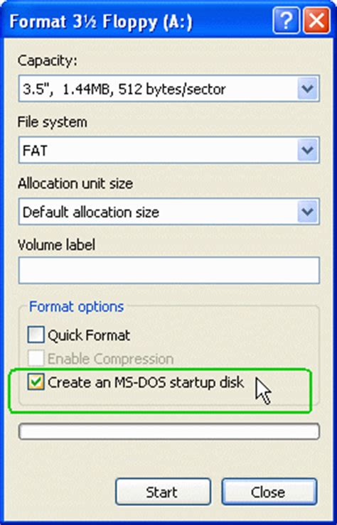 format hard disk ms dos windows xp and sp3 ms dos startup disk