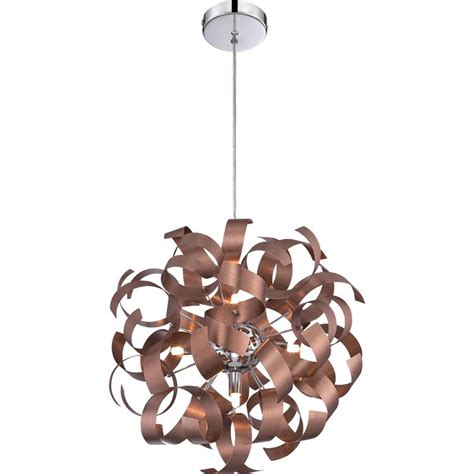 copper pendant light fixture quoizel rbn2817sg ribbons modern satin copper finish 17