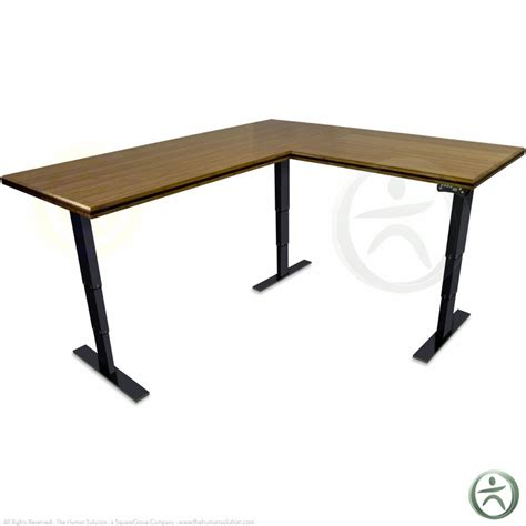 solid l shaped desk shop uplift 950 height adjustable solid wood standing desks