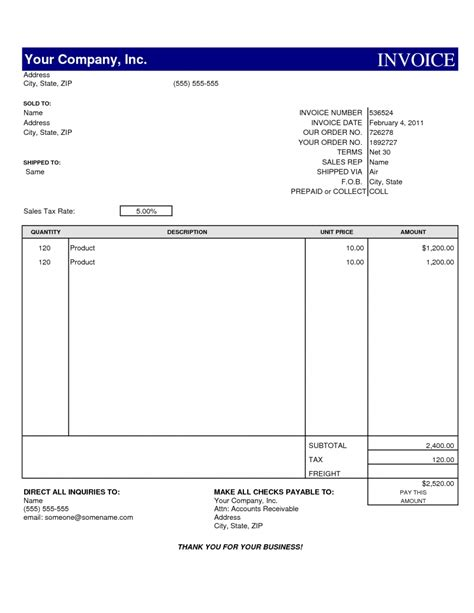 invoice template for drive invoice template for drive invoice template ideas