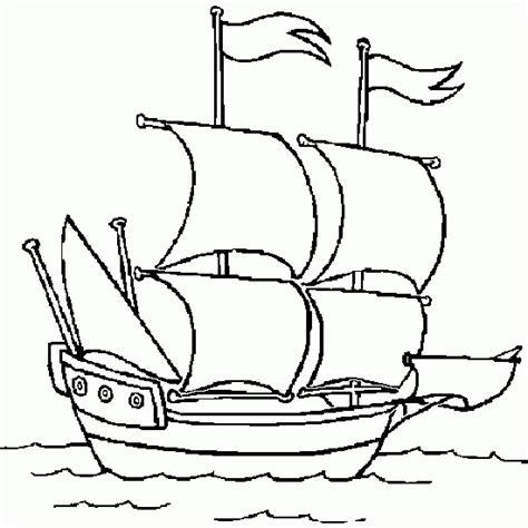 dessin d un bateau sur l eau coloriage d un navire 224 voile coloriages de v 233 hicules 224