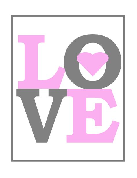 printable wall art large printable love nursery wall art in pink
