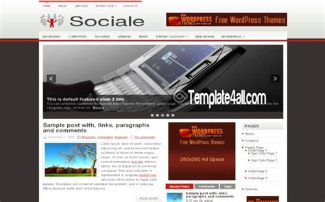 social media network wordpress theme download