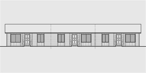 4 Plex Floor Plans by Triplex House Plans Multi Family Homes Row House Plans