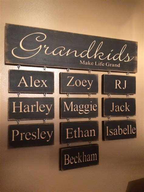personalized home decor signs personalized carved wooden sign grandkids make life