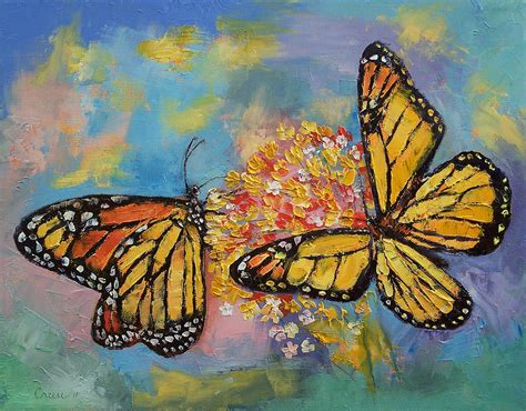 painting butterfly monarch butterflies painting by michael creese