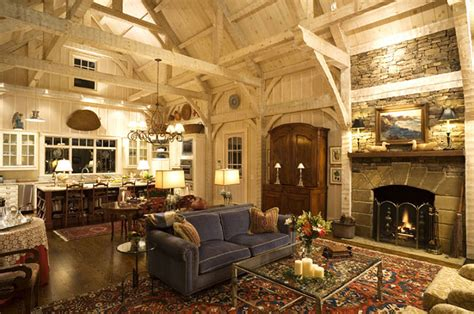 homes in the mountains hand hewn pine timbers in striking north carolina