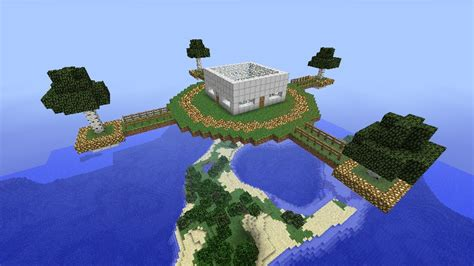 a house in the sky sky house minecraft project