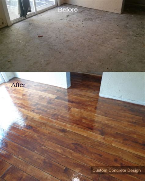 Hardwood Floor On Concrete by Rustic Concrete Wood