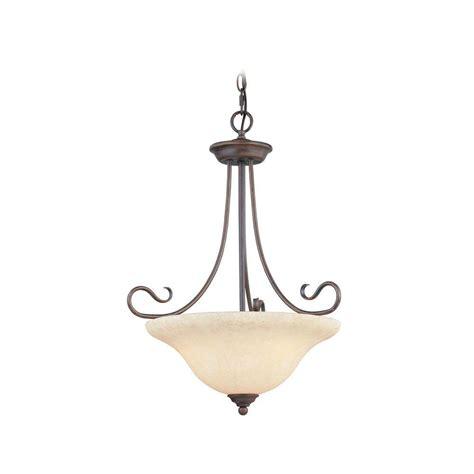 livex lighting 3 light bronze inverted pendant with