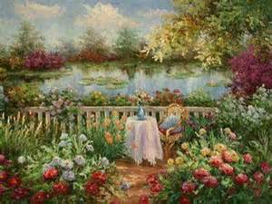 Garden Of Painting Paintings Of Flower Gardens Painting In A Garden