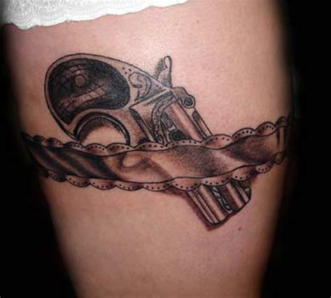 gun tattoo on thigh top 18 gun designs for amazing ideas