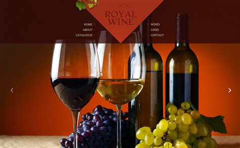 Wine Website Template 48624 Free Wine Website Templates