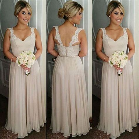 Find a Elegant Long Chiffon Bridesmaid Dresses Lace Sexy
