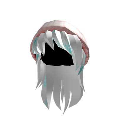 pearl pink beanie with white frosty hair roblox