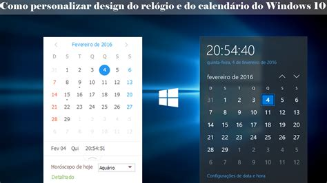 Calendario Windows 10 Como Alterar A Apar 234 Ncia Do Rel 243 Gio Calend 225 Do Windows