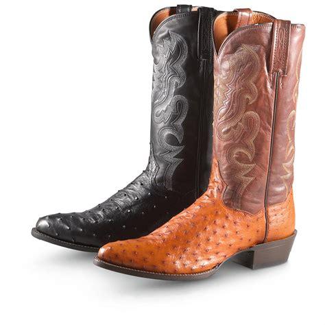 cowboy shoes for s 13 quot dan post 174 tempe ostrich boots 210232 cowboy