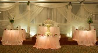 Sweetheart Table Size Wedding Reception Photos