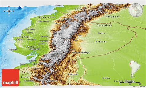 ecuador physical map physical panoramic map of ecuador