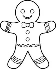 gingerbread coloring page gingerbread lineart free clip