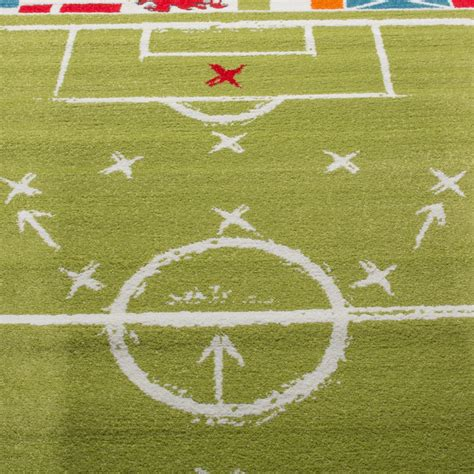 rug football children s rug football design pile football pitch play mat white green children s rugs