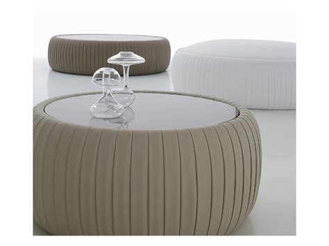 large round contemporary white leather ottoman white leather round ottoman leather round pouffe with