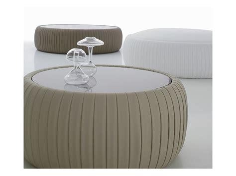 round white leather ottoman white leather round ottoman leather round pouffe with