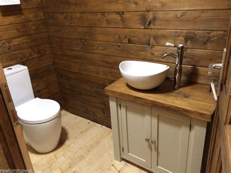 chunky rustic painted bathroom sink vanity unit wood
