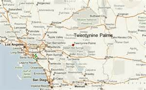 29 palms california map twentynine palms location guide