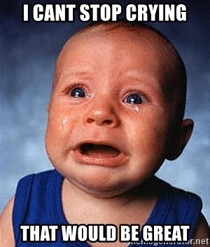 Stop Whining Meme - i cant stop crying that would be great crying baby